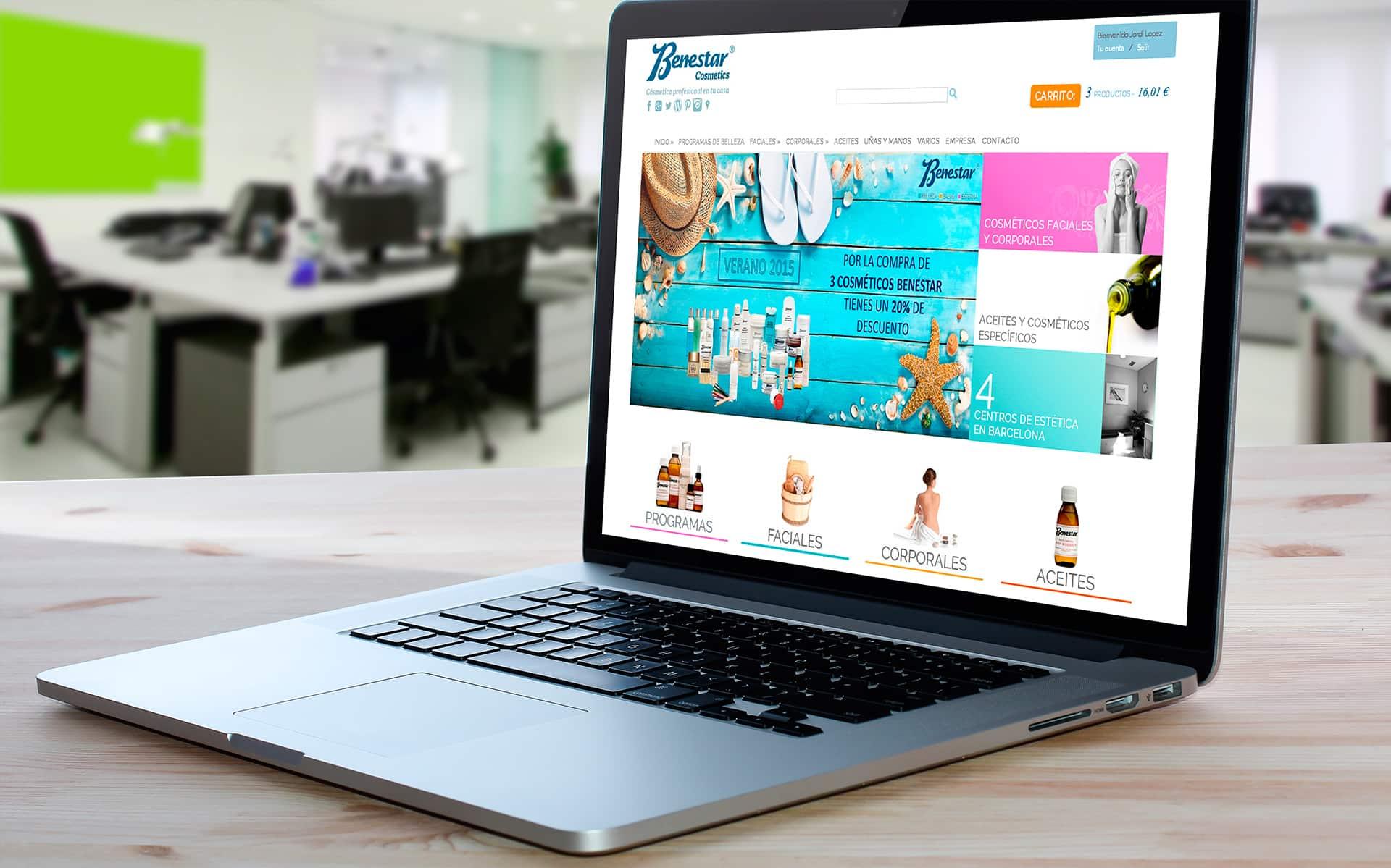 Tienda online Benestar Cosmetics
