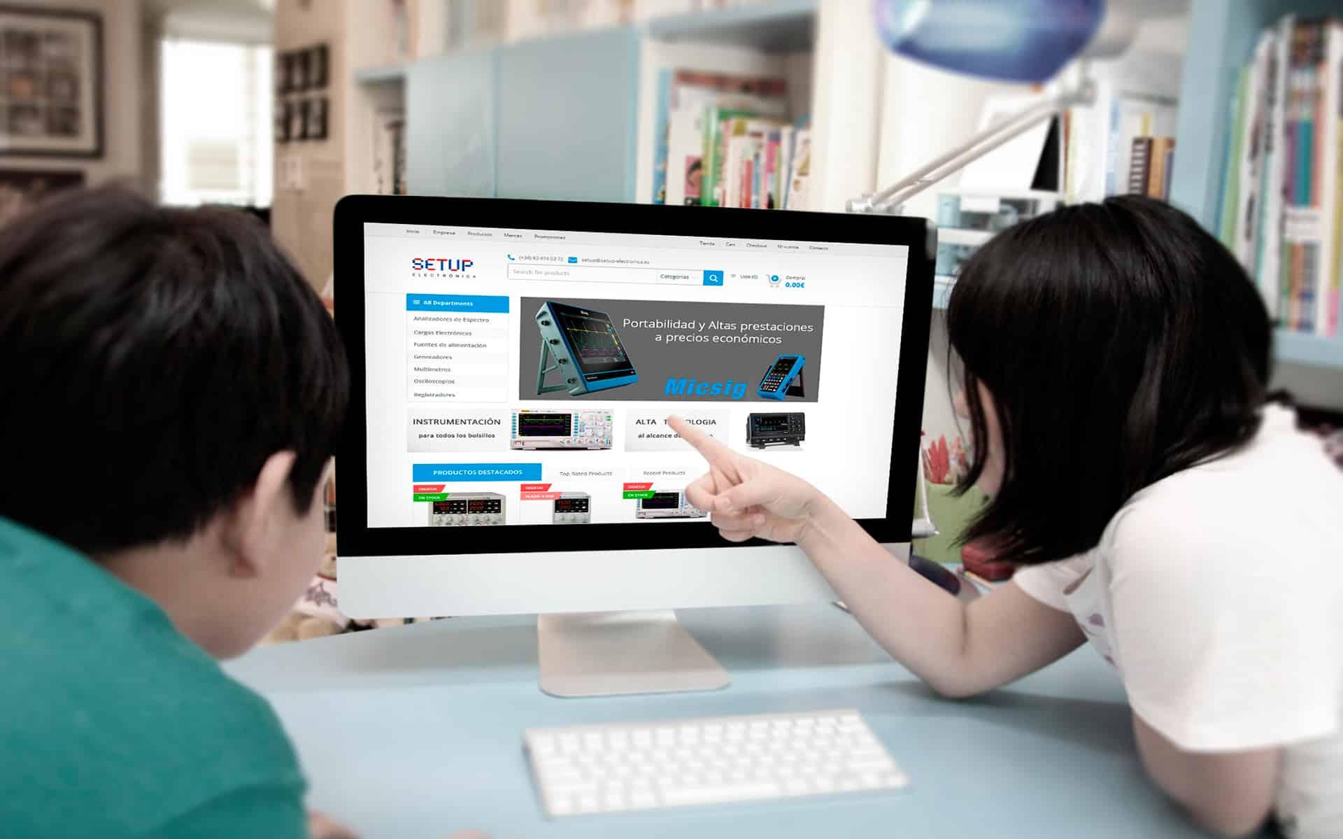 Diseño web y tiendas online de Setup electronica