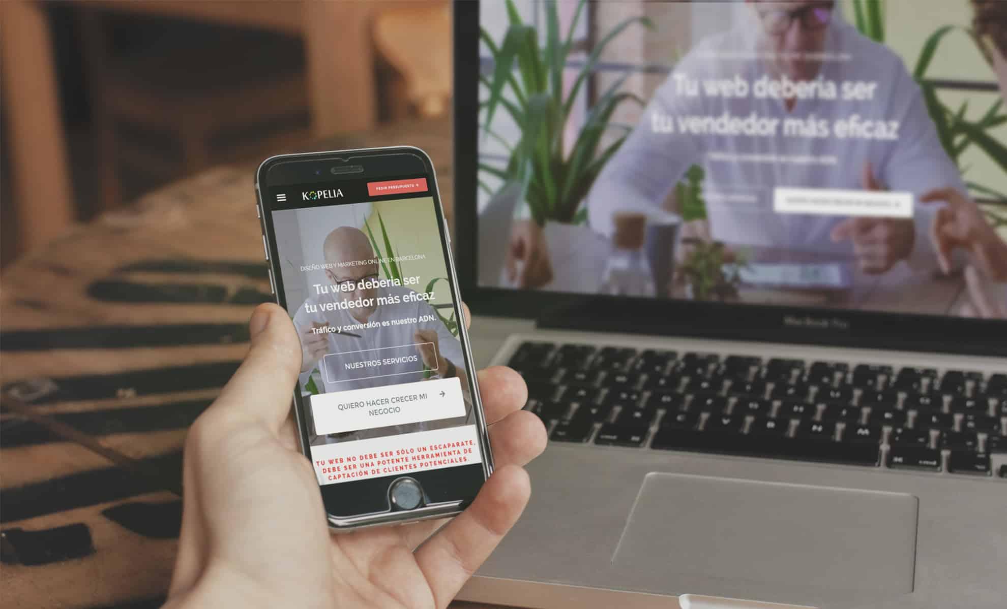 Mockup de diseño web Sant Feliu de LLobregat